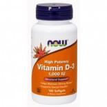 D3 Vitamin 1000NE LÁGYZSELATIN KAPSZULA 180DB Now