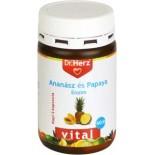 Ananász Papaya enzim  60 kapszula Dr.Herz-gyomor bántalmak