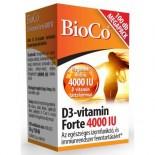 D3-vitamin Forte tabletta 4000IU 100db Bioco